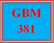 GBM 381 Entire Course