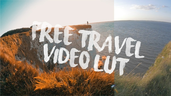 Free travel video inspired LUT and Adjustment Layer Title