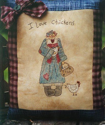 #321 I Love Chickens E Pattern