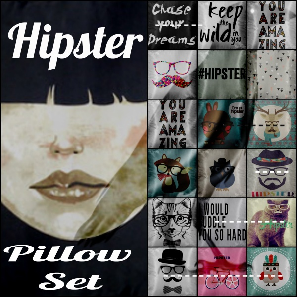 Hipster Pillow Set