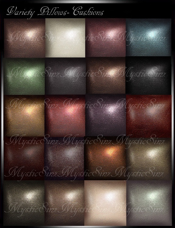 IMVU Texture Pillows Leather Variety Colors