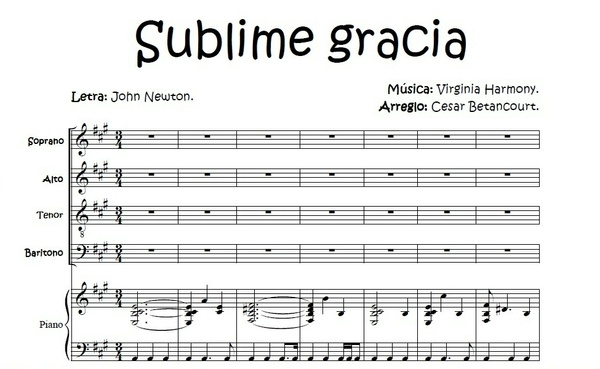 Sublime Gracia - Score Voces