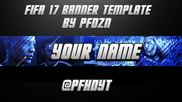 FIFA 17 YOUTUBE BANNER TEMPLATE BY PFDZN