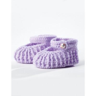 Crochet Ribbed Booties