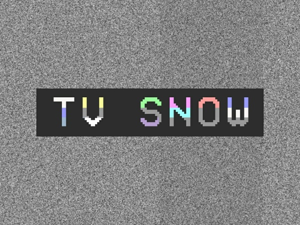 TV Snow (stock footage)
