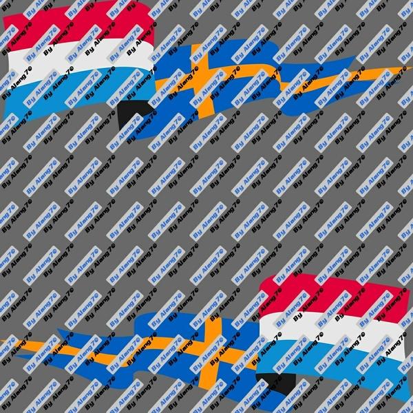 Flags Netherlands-Sweden