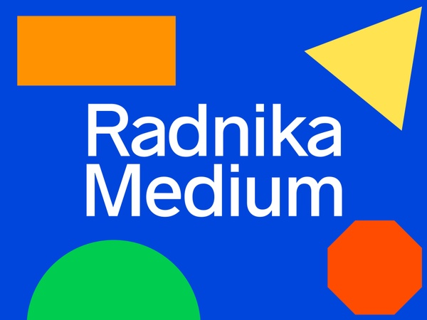Radnika Typeface: Medium