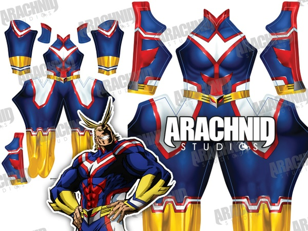 All Might Female Dye-sub pattern