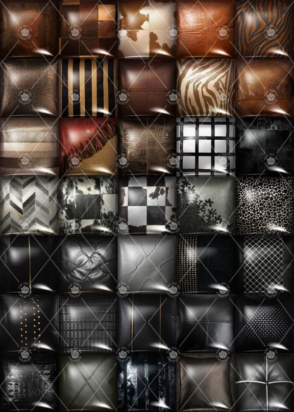 "OLDER COLLECTION "" LEATHER PILLOWS """