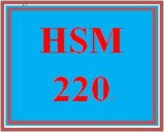 HSM 220 Week 6 Creating a Budget