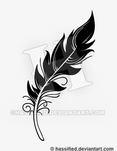 Feather - printable, vector, svg, art