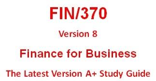 FIN 370 Week 2 MyFinanceLab Problems