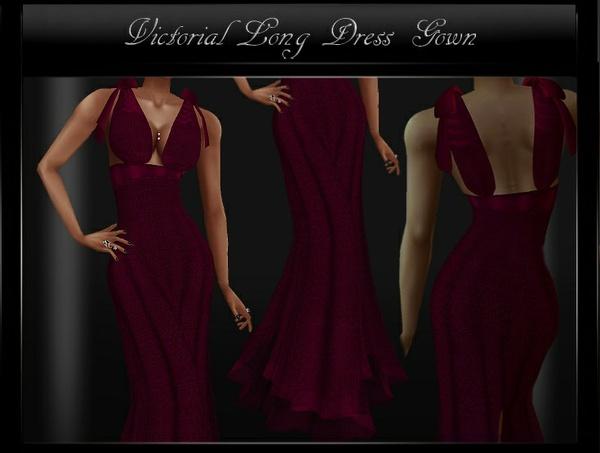 Victorian Long Dress Gown IMVU