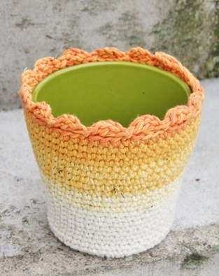 Crochet Flower Pot Cover