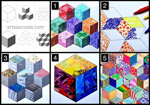 Cubes: 6 worksheets
