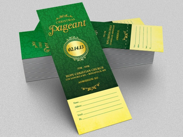 Christmas Pageant Ticket Template