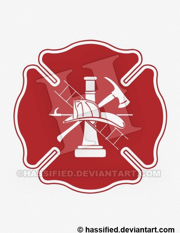 Classic Fire Department Emblem - printable, vector, svg, art