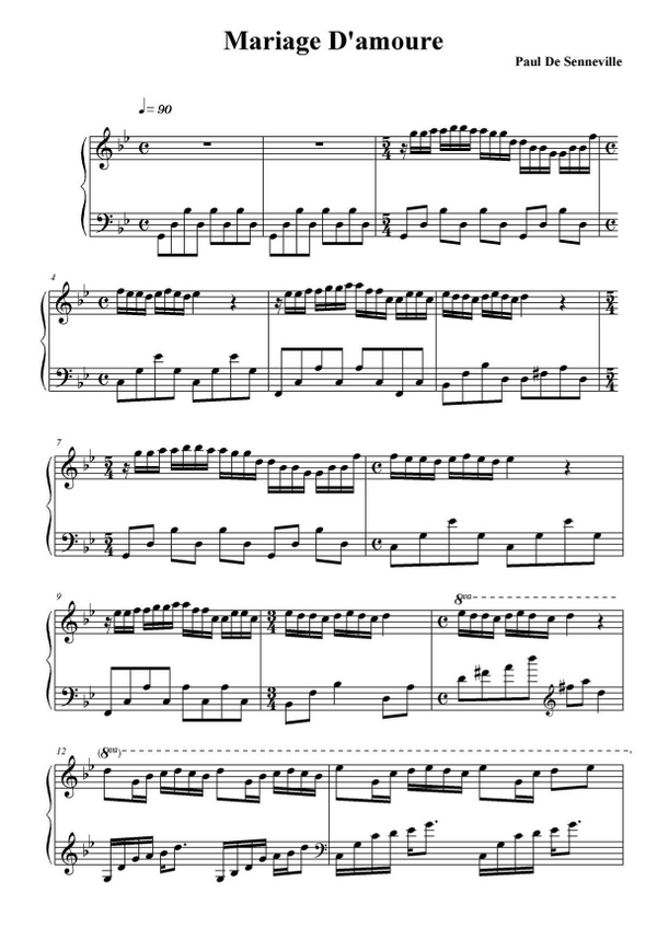 George Davidson - Mariage D'amour sheet music