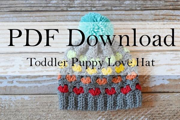 Toddler Puppy Love Hat PDF Download