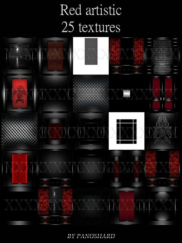 Red artistic 25 textures imvu room