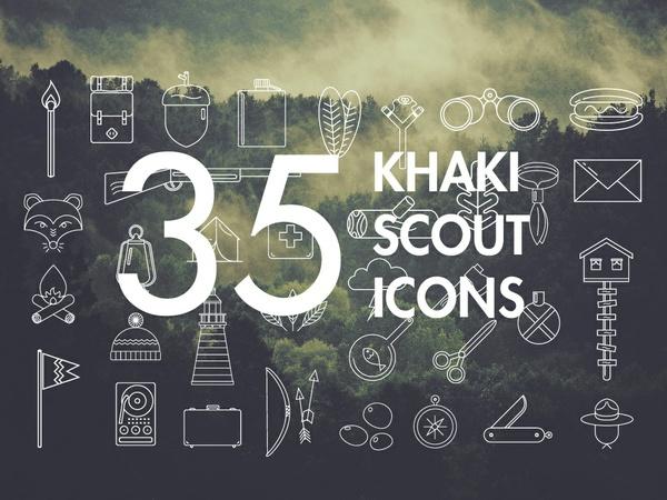 Khaki Scout Icon Set