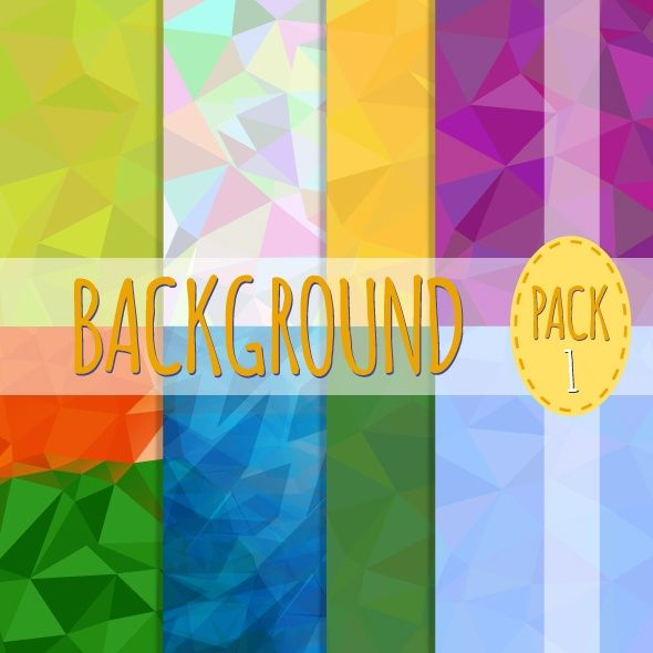 Set of Polygonal Backgrounds. Triangle Design.