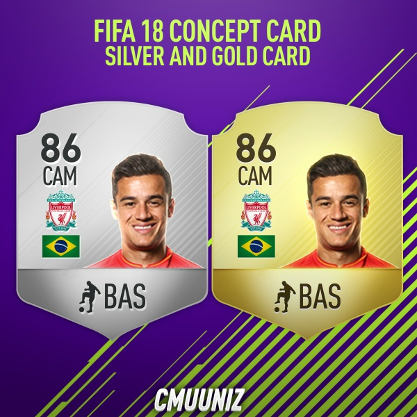 FIFA 18 CONCEPT SMALL CARD (Gold and Silver)