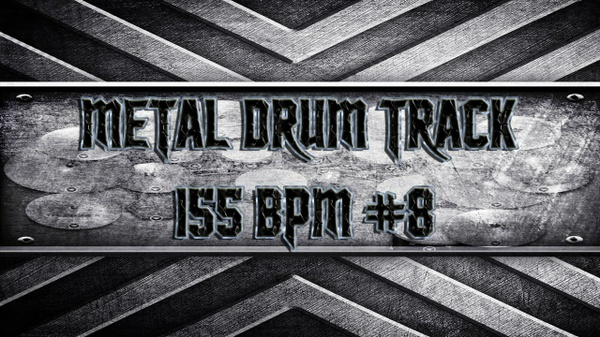 Metal Drum Track 155 BPM #8
