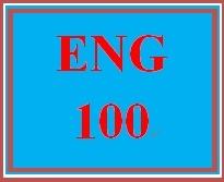 ENG 100 Week 1 Topic Selection Worksheet.