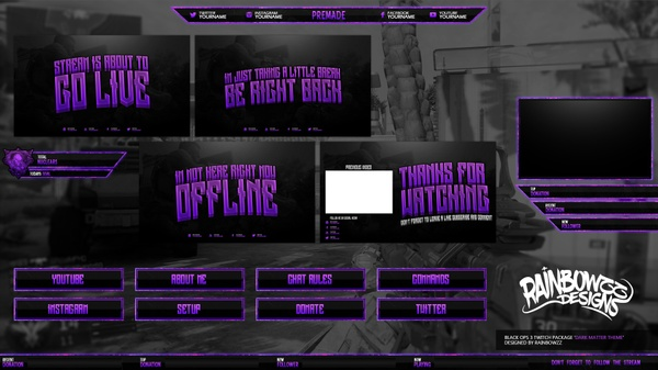 Black ops 3 Dark matter theme twitch package