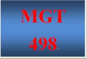 MGT 498 Week 1 Strategic Management Process Paper
