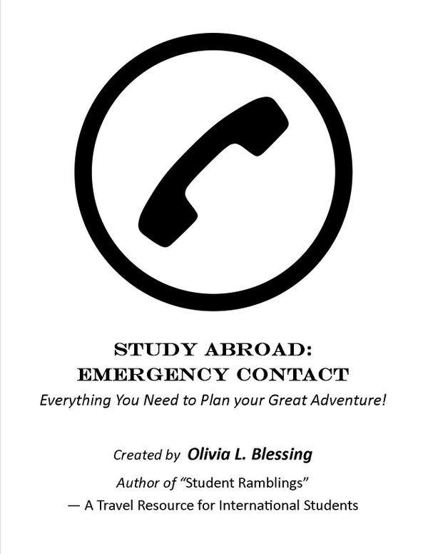 Study Abroad: Emergency Contact Sheet