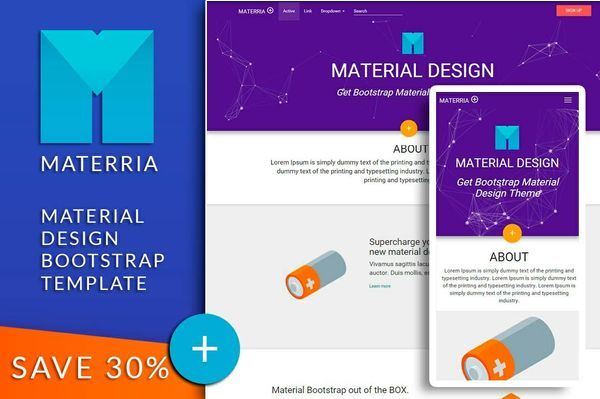 MATERRIA - Material Design Bootstrap template