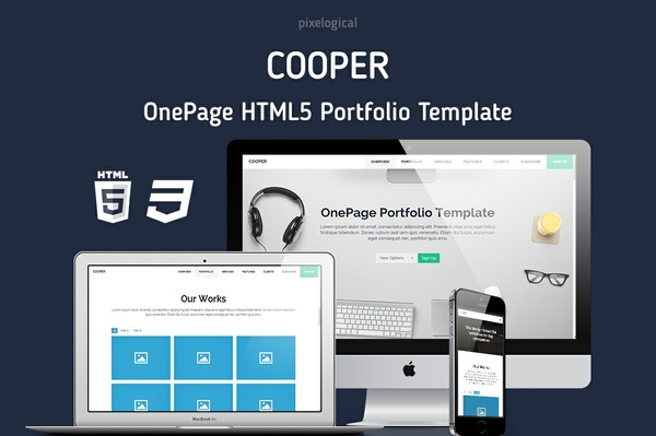 Cooper OnePage HTML5 Website Template