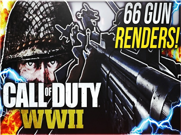 CALL OF DUTY WW2 WEAPON RENDER PACK (66 GUN RENDERS)