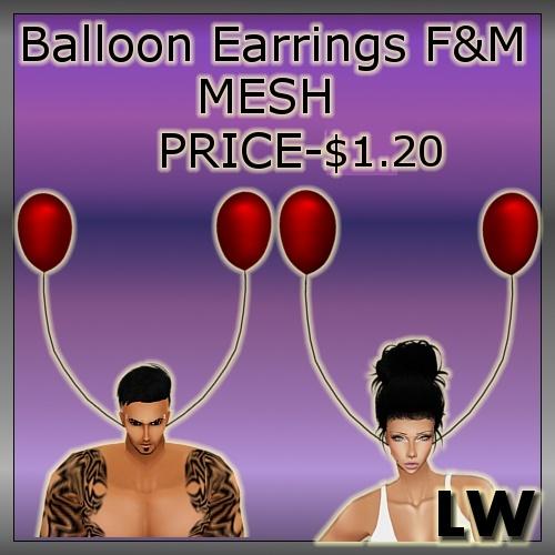 Balloon Earrings MESH Male&Female