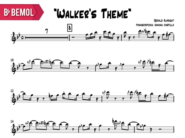 "Gerald Albright - ""Walker's Theme (live at java jazz fest)"" - Bb"