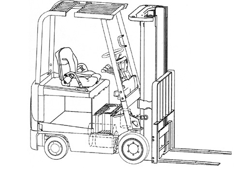 Mitsubishi FBC15N - 30N FBC25LN FBC30LN Forklift Trucks Service Repair Manual Download