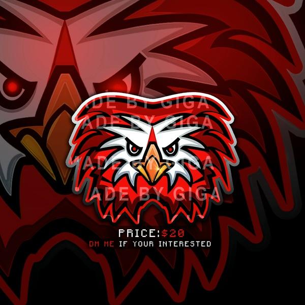 Premade Drawn Mascot Logo Design - Eagle (One Time Selling)