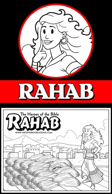 .The Heroes of the Bible Coloring Pages: Rahab