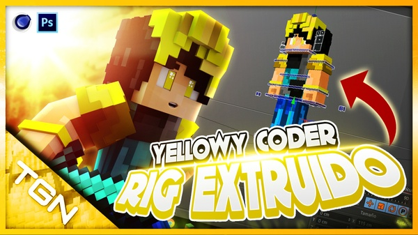 Rig Extruido Yellowy Coder By:GamerJuanAec - Maxon Cinema4D - Descarga