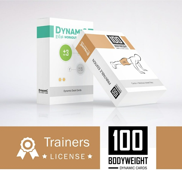 100 Bodyweight Cards + DW Cards / Trainers License -  PDF