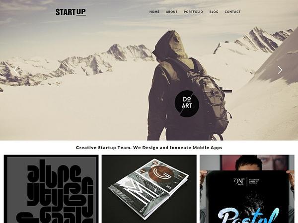 Startup Responsive WordPress Theme