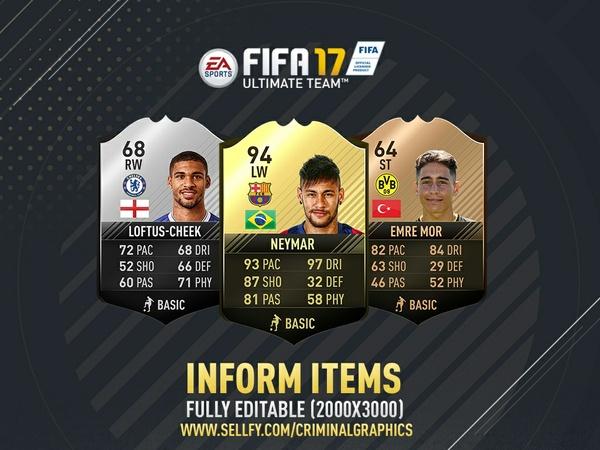 FIFA 17 INFORM ITEMS