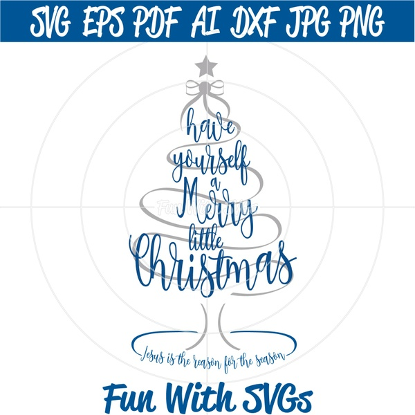 SVG File, Christmas SVG Files, Christmas Decorations, Cricut, Silhouette, Merry Little Christmas