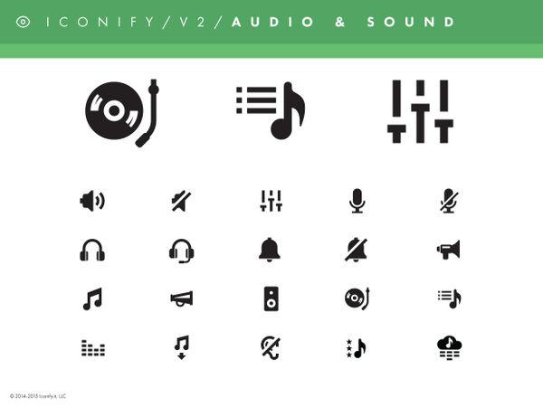 Iconify v2 - Audio & Sound