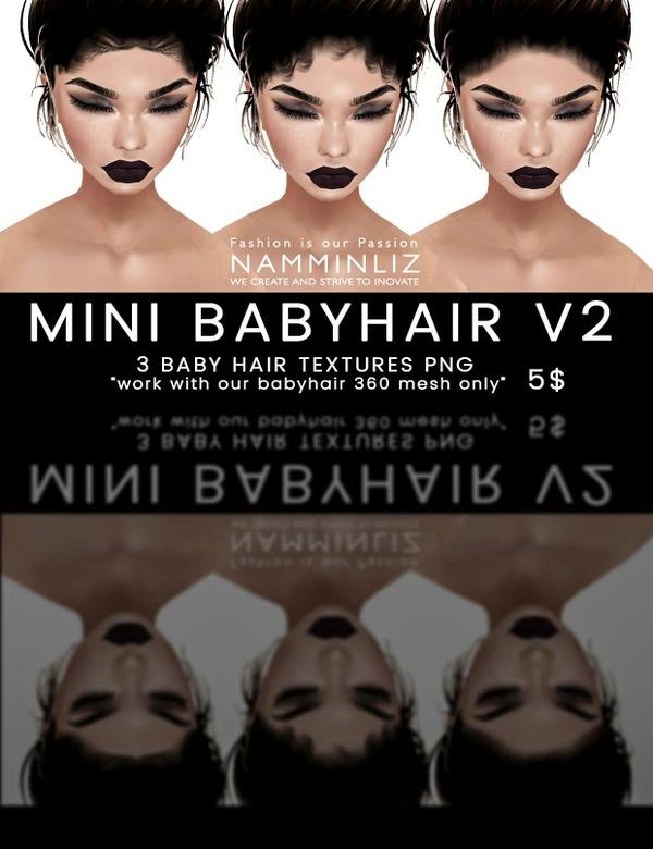 Mini Babyhair V2 ( 3 Textures PNG ) imvu namminliz