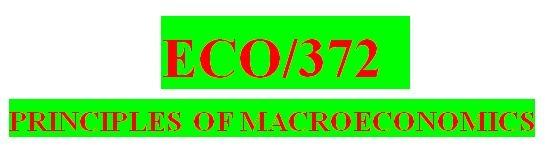 ECO 372 Week 1Knowledge Check