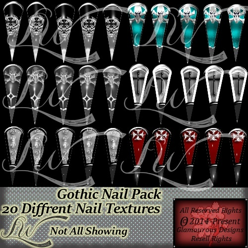 Gothic Nail Pack-WITH RESELL RIGHTS!