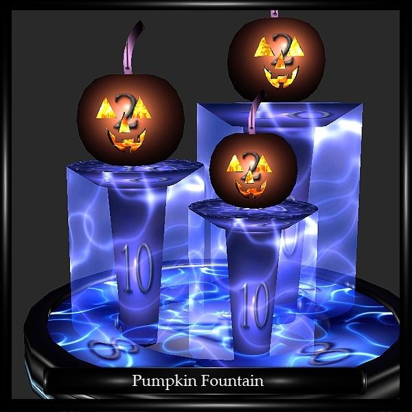 pumpkin fountain